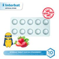 Interlac Probiotik Tablet Kunyah Strawberry - 10 tablet