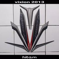 Striping sticker lis body yamaha new vixion lightning 2013 full hitam