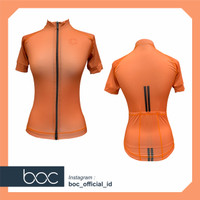 Baju SepedaCycling Jersey Cowok/Cewek/Unisex PRO BASIC - ORANGE