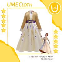 Fashion Kostum Anak Perempuan Dress Karakter Frozen Elsa 2