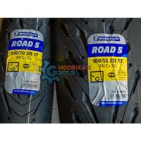 Ban Michelin Pilot Road 5 120/70 -17 & 180/55 - 17 Ninja CBR Z800