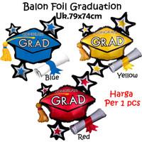 Balon Foil Grad Cluster / Balon Graduation Congrats Wisuda Ijazah
