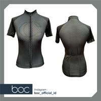 Baju Sepeda Cycling Jersey Cowok / Cewek / Unisex PRO AIR - BLACK