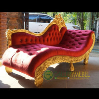 Bangku Sofa Santai Malas Keluarga - Kursi Sofa Raja Ukir Mewah Gold
