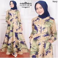 Baju Fashion Maxi Gamis Syari Dress Wanita Muslimah Busui Jumbo Pesta