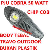 Lampu Jalan 50W PJU LED 50 WATT Kap Sorot Cobra Outdoor COB 50 W Putih