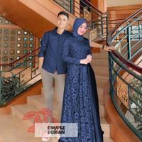 Derian Couple | Baju Pasangan Muslim | Outfit Kondangan - navy