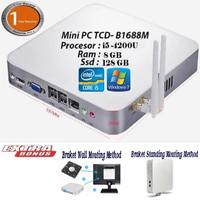 Mini PC Intel Core i5 -3317U/4200U 2.29 GHz RAM 8GB SSD 128GB wifi