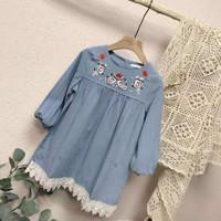 Dress anak perempuan / Baju anak Baby Doll Import Bordir Sz 5.7.9.11.1
