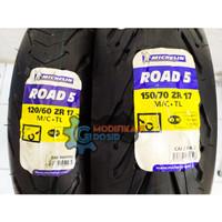 Ban Michelin Pilot Road 5 120/60 -17 & 150/70 - 17 Ninja CBR R25