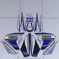 Striping sticker lis yamaha new vixion lightning gp 2014 biru putih