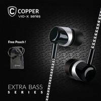 COPPER EXTRA BASS Series Earphone/Headset/Handsfree CP014 - Putih