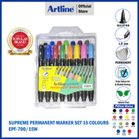 ARTLINE Spidol Supreme Permanent Marker SET 15 Colours EPF-700