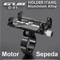 GUB G81 HP Holder G-81 Handphone Phone Aluminium Stang Sepeda Motor