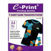 Kertas Sablon E-print T-shirt Dark Transfer Paper Ukuran A4 230 Gsm Pe