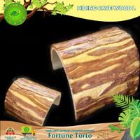 Hiding Cave kayu size L-tempat sembunyi sulcata-tempat sembunyi reptil