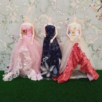 Baju Gaun Pesta Barbie Tiga Pcs