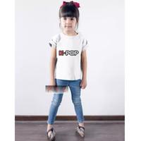 baju kaos anak perempuan K-POP bahan katun