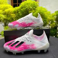 Sepatu Bola Adidas X 19.1 White Pink FG