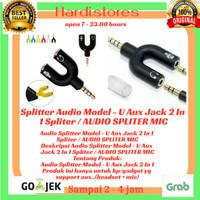 Audio Splitter Model - U Aux Jack 2 In 1 Spliter / AUDIO SPLITER MIC