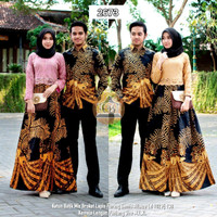 Couple Batik Gamis Baju Sarimbit Wanita Gamis Brokat 2673
