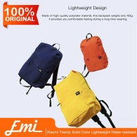 Xiaomi Trendy Solid Color Lightweight Water-resistant Backpack - Fuchs