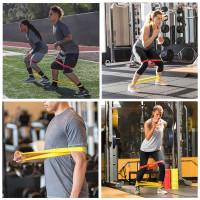 tali karet elastis yoga alat bantu olahraga gym resistance band loop