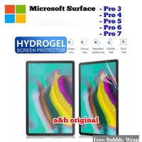 Microsoft Surface Pro 3 4 5 6 7 - Hydrogel Screen Protector Guard Full