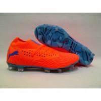 Sepatu Bola Puma Future 19.1 Netfit Orange Blast Blue FG Premium