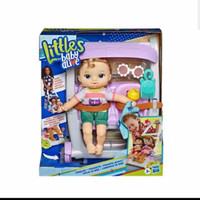 Boneka Littles Baby Alive Stroller Push and Kick Little Anna Blonde