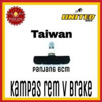 Kampas Rem Sepeda V Brake UNITED