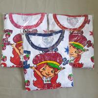 Baju Tidur Anak Perempuan Sett Pendek Strawberry Shortcake usia 1thn