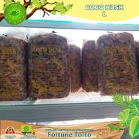 Coco husk/Alas reptil coco husk/Substrate/Alas kandang torto/Reptile