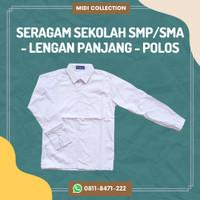 Baju Seragam Sekolah Polos SMP/SMA Lengan Panjang Size 14-16