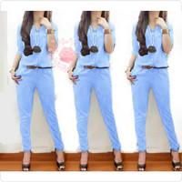 jumpsuit lolita biru muda baju remaja wanita xl terbaru murah lol gm