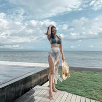 Cover up bikini luaran baju renang wanita rok pantai bali panjang