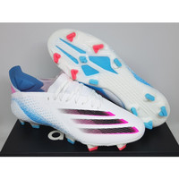 Sepatu Bola Adidas X Ghosted.1 White Blue Pink Black - FG 2020