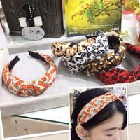 Bando kain bandana headband gaya korea cantik korean style motif B