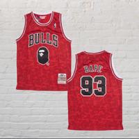 Baju Jersey Basket Classic NBA Chicago Bulls X BAPE Spesial Edition#93