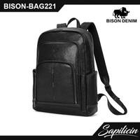 Tas Ransel Kulit Sapi Asli Bison Denim Original Backpack BAG220