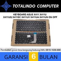 Keyboard Asus X411 X411U X411UQ X411SC X411UV A411 A411Q A411U - Hitam