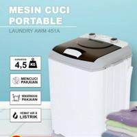 mesin cuci portable ARASHI AWM 451A - 4.5 kg - garansi 3 tahun