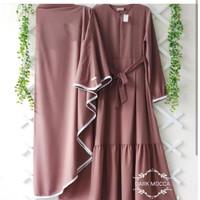 Gamis Syari Nabila set Hijab Polos Muslim wanita Fashion muslim