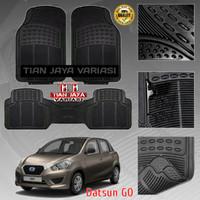 Karpet Mobil 2 Baris DATSUN GO Carpet Karet 3pcs Lentur Tebal Impor