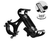 V2 Aluminium Holder HP Stang Sepeda Motor Tempat Dudukan Handphone