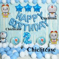 Set paket balon doraemon dorami dekorasi pesta ulang tahun birthday