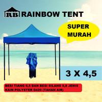Tenda Lipat Ukuran 3x4,5 Warna Besi merah 0,8 atap standar