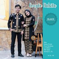 Kebaya Modern Batik Couple Atasan Wanita Muslim Baju Pasangan Pesta-
