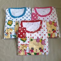 Baju Tidur Anak Perempuan Sett Panjang Kucing usia 2-3thn