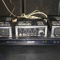 Vintage car audio CLARION GC-501 + GA-501 + din Y adapter original USA